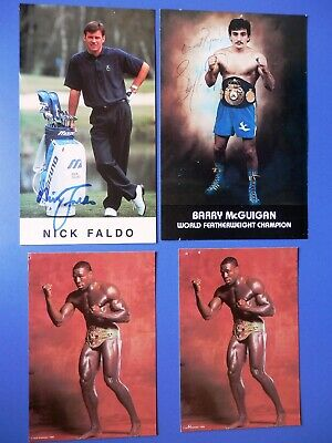 Sport - Golf Boxing Football Horse Racing + - 10 Signed Photos & 12 Signed Cards