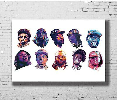 Z-153 Hot Chance the Rapper Rocky ASAP Music Rap Music 8x12inch Poster Print
