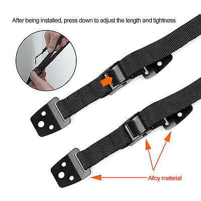 2xClippasafe Anti-Tip TV Straps Baby Safety Flat Screen Monitor Harness Holder