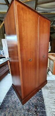 "G Plan Gentlemans Teak Wardrobe Twin Doors Internal Draws 23""D x 70""H x 37.25""W"