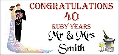 Personalised Golden Anniversary Banner Free Delivery D022 50 Years