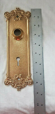 Brass Door Back Plate Escutcheon Heavy Ornate Victorian
