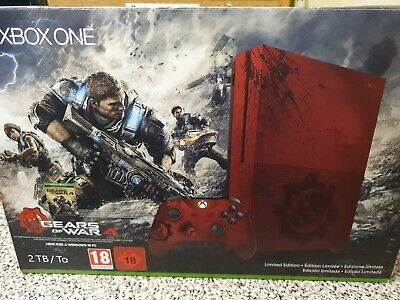 Microsoft Xbox One S Gears of War 4 Limited Edition Bundle 2TB Crimson