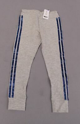 Rockets Of Awesome Girl's Supersoft Glitter Sidestripe Leggings MW7 Grey Size 6