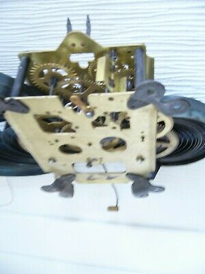 Striking Clock Movement With Open Springs.