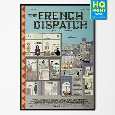 The French Dispatch Wes Anderson 2020 Film Poster Print A4 A3 A2 A1