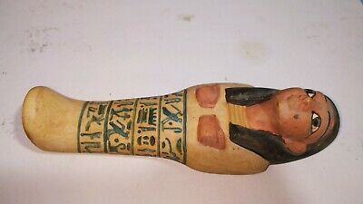 Shabti Egyptian Ancient Ushabti Statue Faience Hieroglyphic Egypt Stone Antique