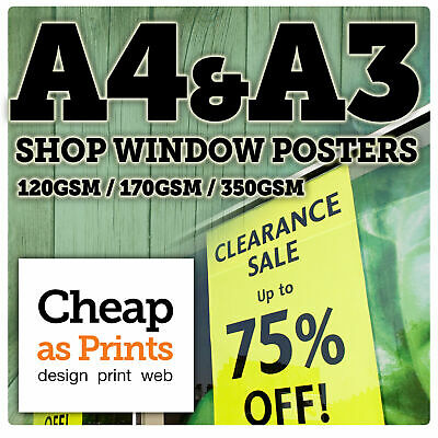 Poster Printing Service | Cheap A4 & A3 Posters | 120gsm - FREE DELIVERY