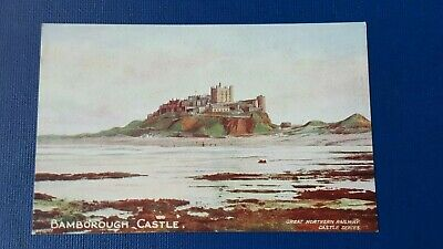 Old Postcard Bamburgh Castle GNR Great Northern Railway Castle Series Unposted