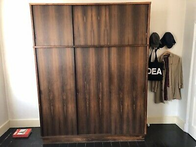 Danish Vintage Wardrobe TRIPLE SIZED ROSEWOOD in the Style of Arne Vodder