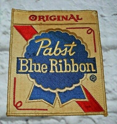 "Pabst Blue Ribbon Beer PBR Patch Sew Cloth 6""x7"" for Jacket Sweater Bag Vintage"