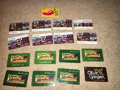 Lot Of 17 Collectible No Value Gift Cards Darren Restaurant Olive Garden Chilis