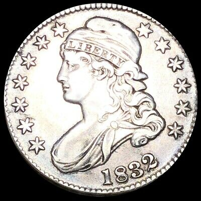 1832 Capped Bust Half Dollar NEARLY UNCIRCULATED Philly High End 50c Silver Coin