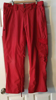 Planet Earth Red Snow Board Pants Size Medium Mens Red Pre-owned