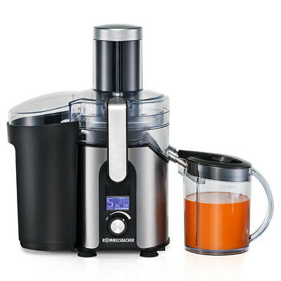 ROMMELSBACHER Centrifugal juicer Black,Stainless steel,Transparent LCD ES 850/E