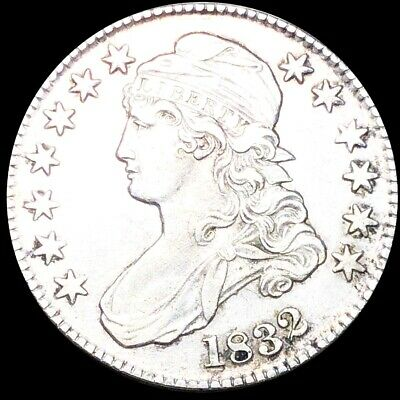 1832 Capped Bust Half Dollar CLOSELY UNCIRCULATED Philly High End 50c Silver NR!