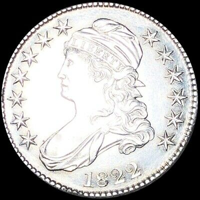 1822 Capped Bust Half Dollar APPEARS UNCIRCULATED Philly ms bu 50c Silver Coin!