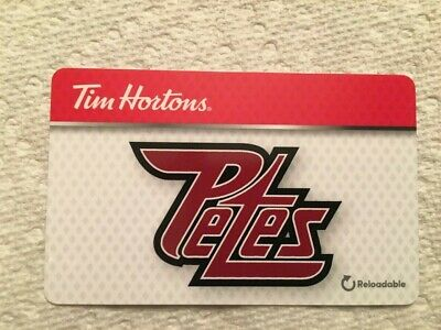 Tim Hortons Peterborough Petes 2019 gift card FD67860