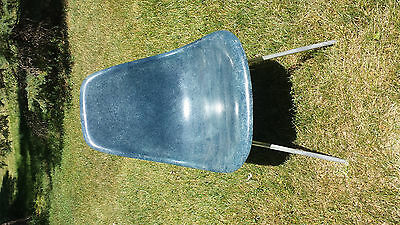 Chair mid century modern siged Herman Miller Eames fibreglass blue rare vintage