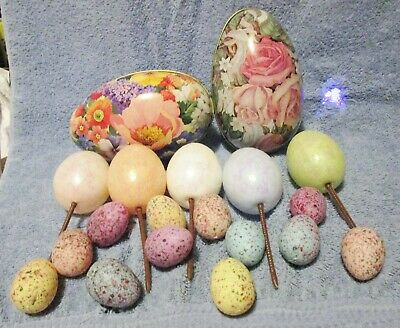 Easter Decorations Bunny Rabbit, Chicks, Ducks & Eggs   LOT OF OVER 45  ITEMS