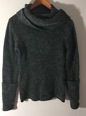 SO COOL Womens Gray Cowl Neck Sweater Size M/L