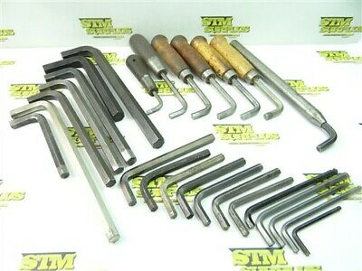 """Large Assorted Lot Of Allen Hex Key Wrenches 3/16"""" To 3/4"""" W/ Handles"""