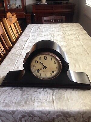 Vintage Wooden Chiming Mantle Sessions Clock