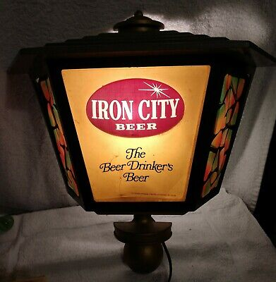 Vintage Iron City Beer Pittsburgh Brewery Advertising Lighted Sign  Bar Pub