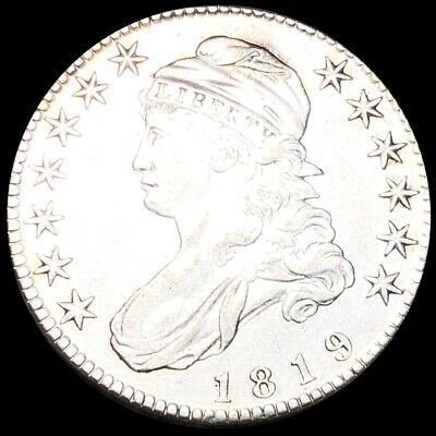 1819 Capped Bust Half Dollar CLOSELY UNCIRCULATED Philadelphia 50c Silver no res