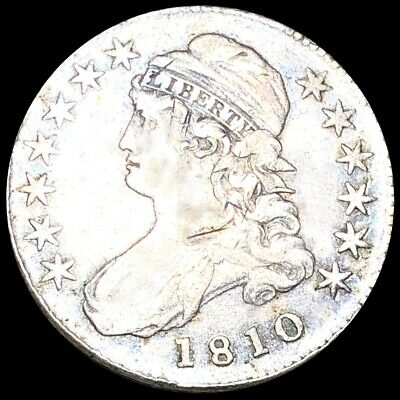 1810 Capped Bust Half Dollar LIGHTLY CIRCULATED Philadelphia High End 50c Silver