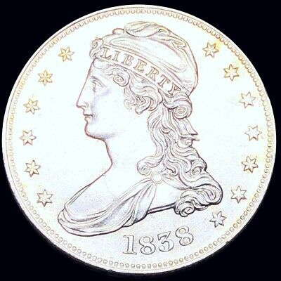 1838 Capped Bust Half Dollar HIGHLY UNCIRCULATED Philadelphia ms bu 50c Silver!
