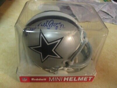 Ed Too Tall Jones Auto Autograph Mini Helmet Dallas Cowboys Coa