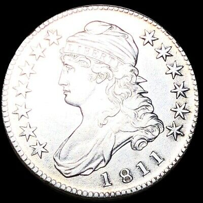 1811 Capped Bust Half Dollar CLOSELY UNCIRCULATED Philadelphia 50c Silver Coin!
