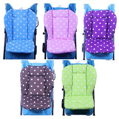 EB_ Thick Colorful Baby Infant Stroller Seat Pushchair Cushion Cotton Mat