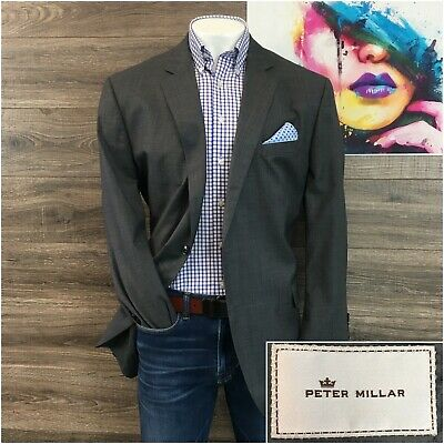 Peter Millar Sport Coat Blazer Mens Size 50T Tall Wool 2 Button Jacket Two Vent
