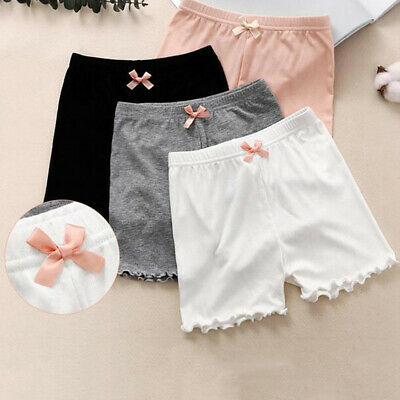 EB_ Girl Solid Color Soft Elastic Breathable Safety Shorts Underwear Underpants