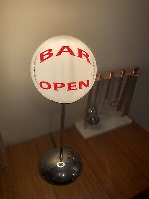 Bar Open Table Lamp Vintage