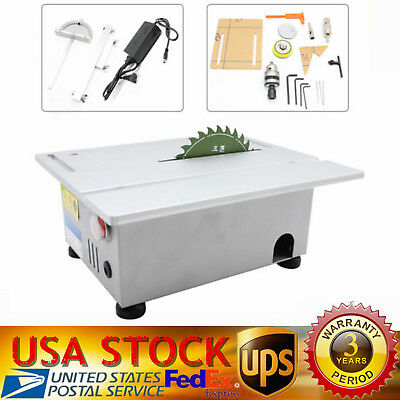 T5 Portable Precision Bench Top Cutting Machine Small Table Saw Woodworking 100W