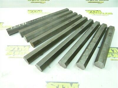 "10Lb 9Pc Assorted 1018 & 1215 Steel Solid Hexagon Stock 3/4"" X 6"" To 9"""