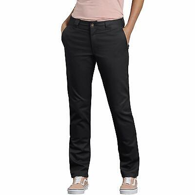 Dickies Women's Double Knee Work Pant With Stretch Twill, Black, 16