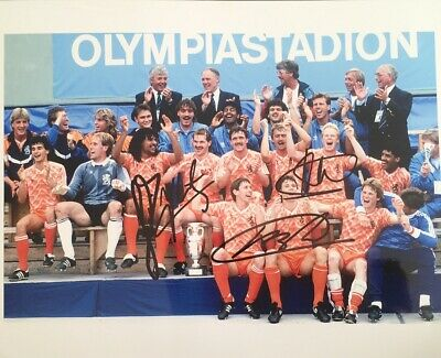 Holland multi signed 10x8 photo Inc Koeman Van Basten UACC AFTAL Approved