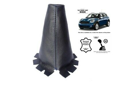 Gear Gaiter For Mini Countryman R60 2010-2016 Leather Blue Stitching