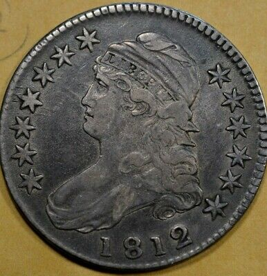 1812 Bust Half Dollar vf vf+  ( Part of a huge estate collection )