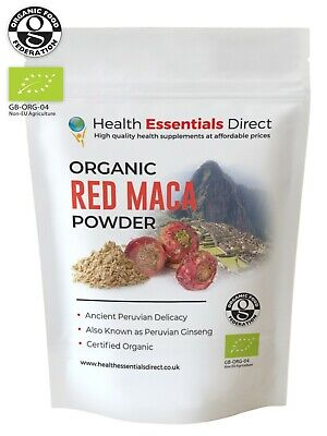 Organic Red Maca Powder (Libido, Fertility, Peruvian Ginseng) Choose Size: