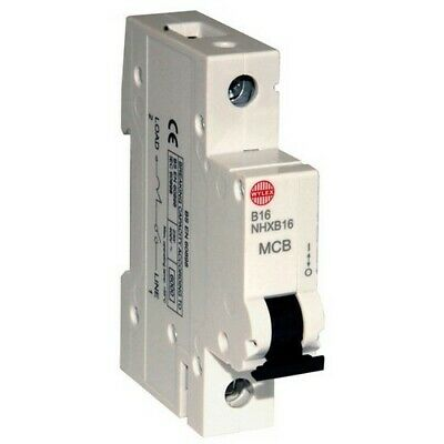 Wylex NHXB16 16 Amp MCB fuse (Replacement for NSB16)