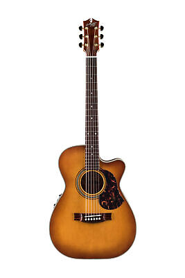 Maton EBG808C Nashville Acoustic Electric Guitar w/Case - Vintage Amber Satin