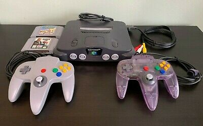 Nintendo 64 N64 Game Console System Bundle With 2 Controllers 2 Games Expansion