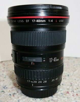 Canon EF 17-40 mm f/4 L USM Lens w/ hood / filter / caps