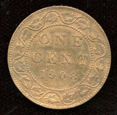 1908 Canada One Cent - Large Penny Mint State with lustre - Sale
