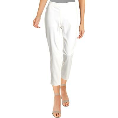 Theory Womens White Straight Pull On Workwear Ankle Pants 0 BHFO 3589
